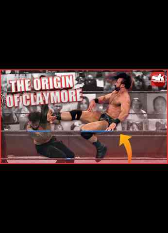 What was the origin of Drew McIntyre's Claymore in WWE? #Shorts