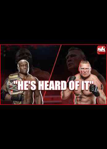 WWE Champion Bobby Lashley reacts to his dream match against Brock Lesnar