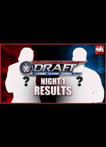 WWE Draft Night 1 results in 60 seconds! #shorts