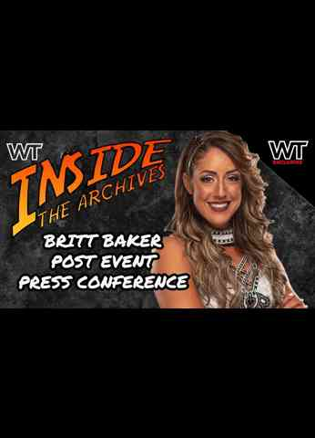 Wrestling Travel presents Inside The Archives: Britt Baker after AEW Double or Nothing.